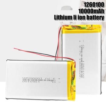 Akumulator 3 7V 10000mAh Lipo li-po bateria litowa 1260100 z PCB litowo-polimerowa bateria zastępcza baterie do tabletu DVD tanie i dobre opinie Camelion Litowo-polimerowy CN (pochodzenie) Tylko baterie Pakiet 1 1PCS-10PCS 100x60x12mm 3 7~4 2V Bluetooth headset mobile speaker