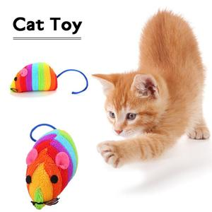 HOT!! Funny Interactive Pet Toys Supplies Cat Toy Cat Rainbow Mouse Toy Cotton-filled Little Mouse Funny Cat Toy Small Mouse