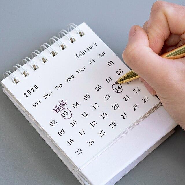 JIANWU simplicity agenda 2020 planner Table Calendar weekly planner Monthly To Do List Desktop Calendar office supplies 2