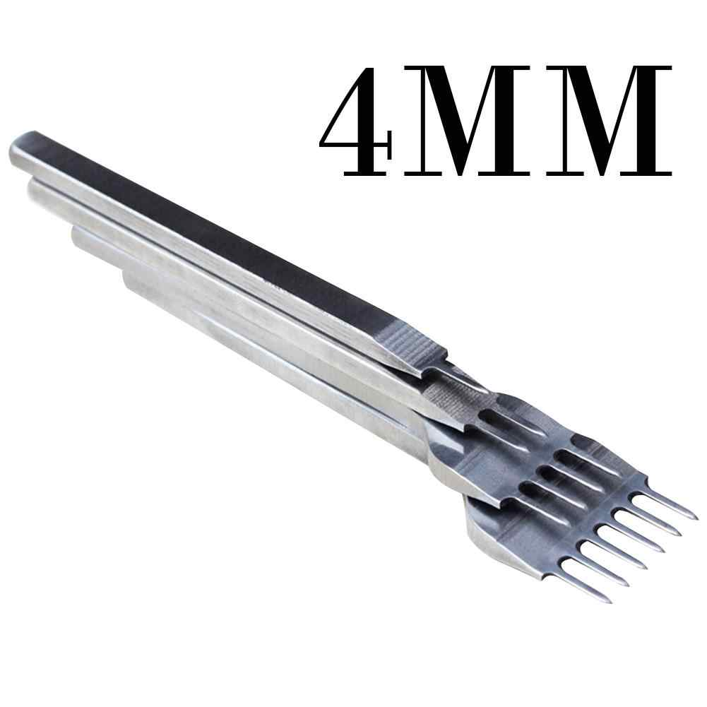 4 adet/takım 3/4mm deri el sanatları araçları delik zımba bağlama dikiş aracı el dikişli yüksek gradewhite çelik Linger Hiratsuka 40P