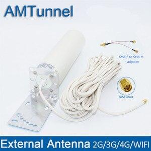 Image 1 - 4G LTE เสาอากาศ 4G SMA เสาอากาศ WiFi 12dBi เสาอากาศภายนอก 10M SMA ชายสำหรับ Huawei ZTE โมเด็ม Router