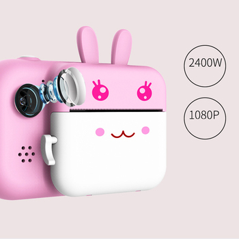 1080P Instant Print Camera Toys for Children Kids Digital with Thermal Photo Paper 32Gb TF Card Gift Girls Boys - discount item  30% OFF Electronic Toys