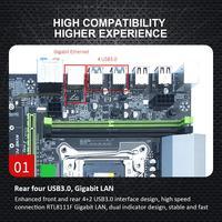 computer motherboard Computer Motherboard 4xDDR4 DIMM 2400/2133MHz SATA3.0 NVME M.2 Dual USB 3.0 PCI-E Slot LGA2011-3 Pin CPU 4 Channels Motherboard (3)