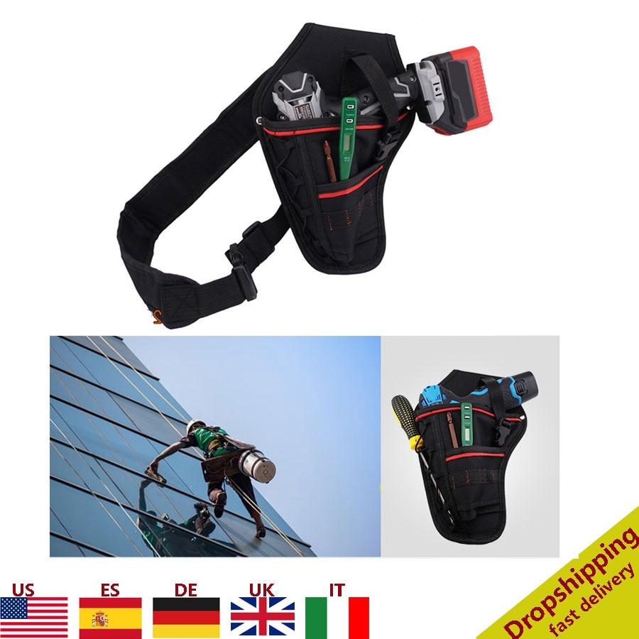 Multifunctional Drill Holster Waist Tool Bag Waterproof Electric Waist Belt Tool Pouch Bag Wrench Hammer Screwdriver Tool Pouch