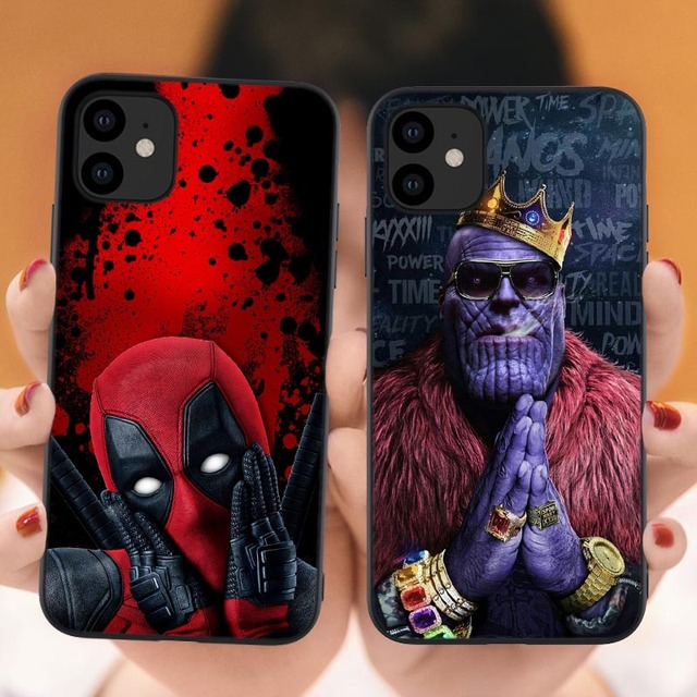 Phone Case for iPhone 11 Pro 5.8 2019 Marvel Venom Iron Man Spider-Man Deadpool Soft Cover For iPhone 11 Pro MAX 6.1 6.5 inch