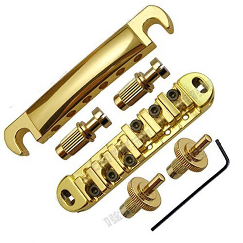 Golden Abr-1 Style Tune-o-matic Bridge & Tailpiece Gold for Gibson Les Paul Gear Replacement