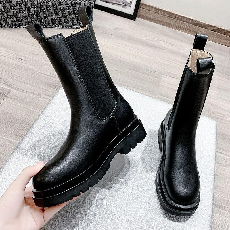 2020 Chunky Boots Woman Shoes Winter Luxury Brand Designer Chelsea Heel Female Platform Boots Lasdies Fashion