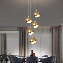 Nordic Led Pendant Lamp Glass Ball For Dining Table Bedroom Kitchen Island Home Decoration Living Room Small Hanging Lighting