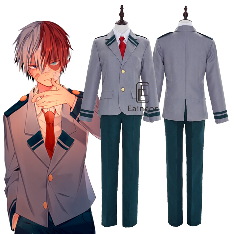Boku no Hero Academia Bakugou Katsuki Todoroki Shoto Cos Costume School Uniform
