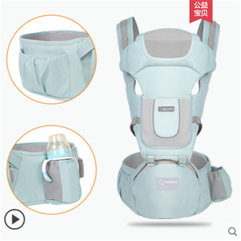 Baby Carrying Waist Stool Front Hold Multifunctional Lightweight Baby Child Stool Four Seasons Hold Baby Artifact Front and Back lightweight breathable baby sling waist stool backpacks carries multiple back child stool scientific design to ease the load