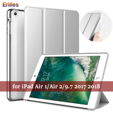 Stand Case for iPad Air 2 Silicone Flip Cover For 5 6 9.7 inch Ultra Thin 2017 2018 Smart Cases