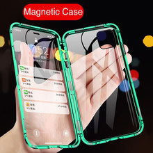 360 Magnetic Adsorption Phone Case For iphone 11 Pro Flip Metal Frame Hard Case Cover For aiphone 11 Pro iphone11 Pro max Magnet(China)