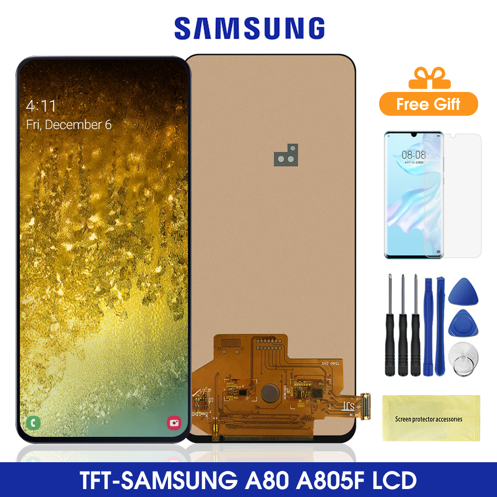 2400*1080 A805 Lcds For <font><b>Samsung</b></font> <font><b>Galaxy</b></font> <font><b>A80</b></font> <font><b>Lcd</b></font> Display Touch Screen Digitizer Assembly For <font><b>SAMSUNG</b></font> <font><b>A80</b></font> A805 SM-A805 A805F Lcds image