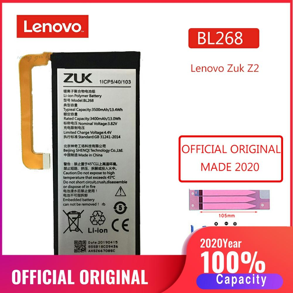 BL268 2020 Original Phone Battery For Lenovo ZUK Z2 Z2131 100% Real 3500mAh Phone Replacement polymer Batteries Bateria image