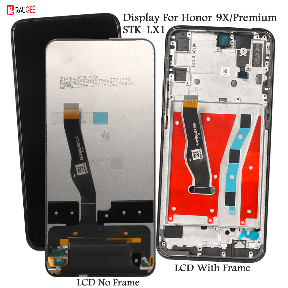 Display For Honor 9X 9 X Premium STK-LX1 Lcd Display Touch Screen Replacement For Honor 9 X Global Display Tested Phone LCDs