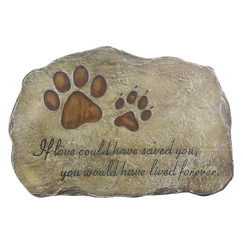 Pet Memorial Stone Marker For Dog Or Cat Garden Stone For Loved Pet Pet Grave Headstone Tombstone Loss Of Pet Gift