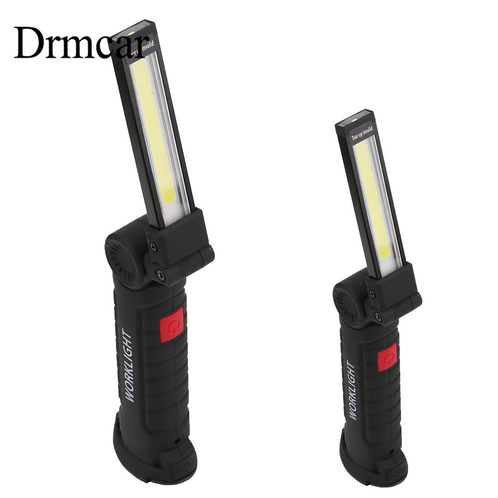 Rechargeable LED Bar Work Light Portable COB Flashlight Torch USB Magnetic COB Lanterna Hanging Hook Lamp For Outdoor Camping