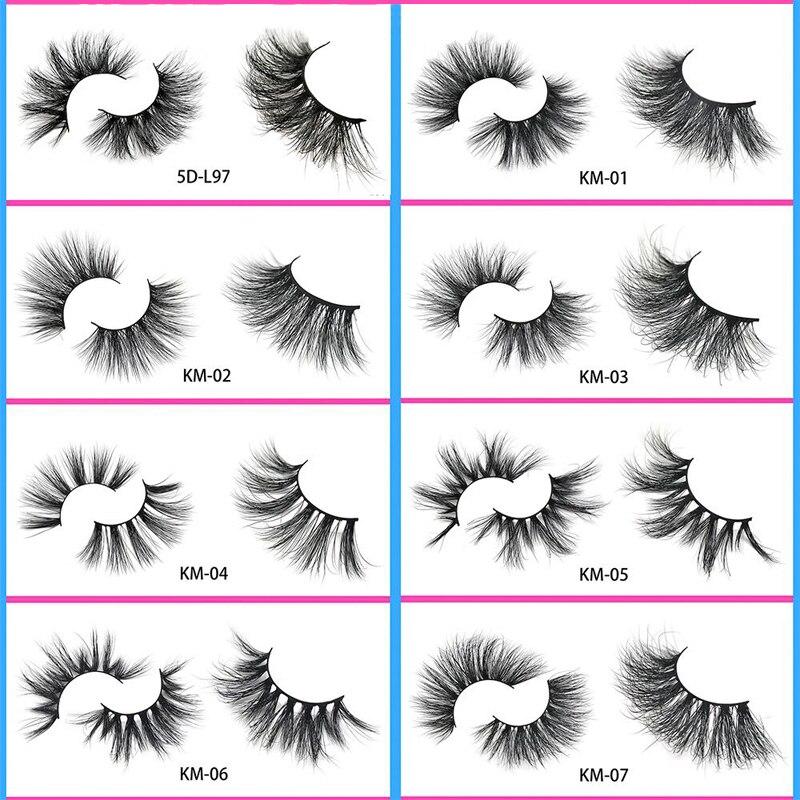 Eyewin Fasle Eyelashes 25mm Eyelash 5D Lash 100% Cruelty Free Lashes Handmade Reusable Mink Lash Faux Cils Makeup Lash Maquiagem