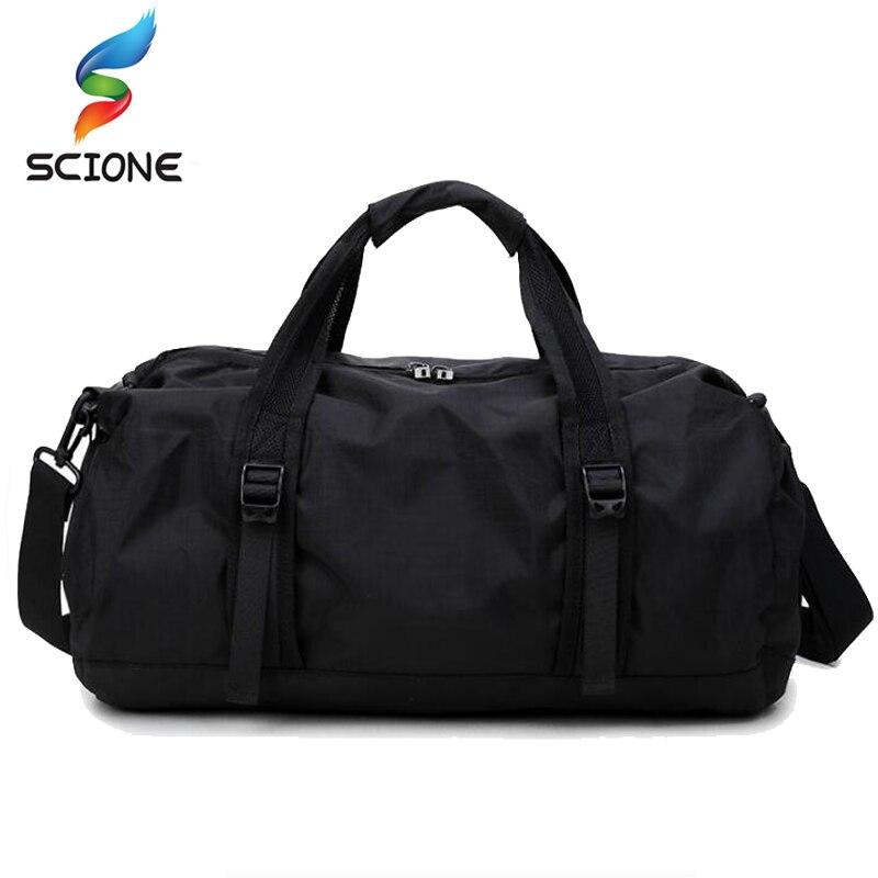 Caliente A + + bolsa de deportes de gimnasio bolsa de deporte ligera plegable equipo de viaje impermeable gran espacio de mano bolsa de gimnasio bolsa de hombre para Fitness