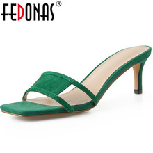 FEDONAS Casual Genuine Leather Shoes For Women Sandals Open-