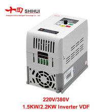 VFD 2.2KW Inverter Variable Frequency Drive 1.5KW/2.2KW 220v 1P Input 3P OUT Frequency For CNC Spindle Motor Speed Control