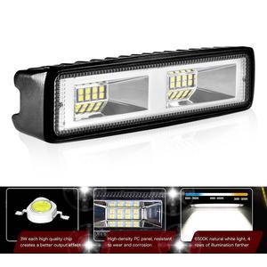 Image 3 - Aeobey 1pcs LED פנסי 12V עבור אוטומטי אופנוע משאית סירת טרקטור קרוואן Offroad עבודה אור 48W LED עבודת אור זרקור