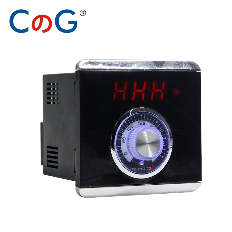 TED TE72 72*72mm Knob 0-300 Degree 30A High Load Current K E Type AC220V Digital Thermostat Powered 380V Temperature Controller