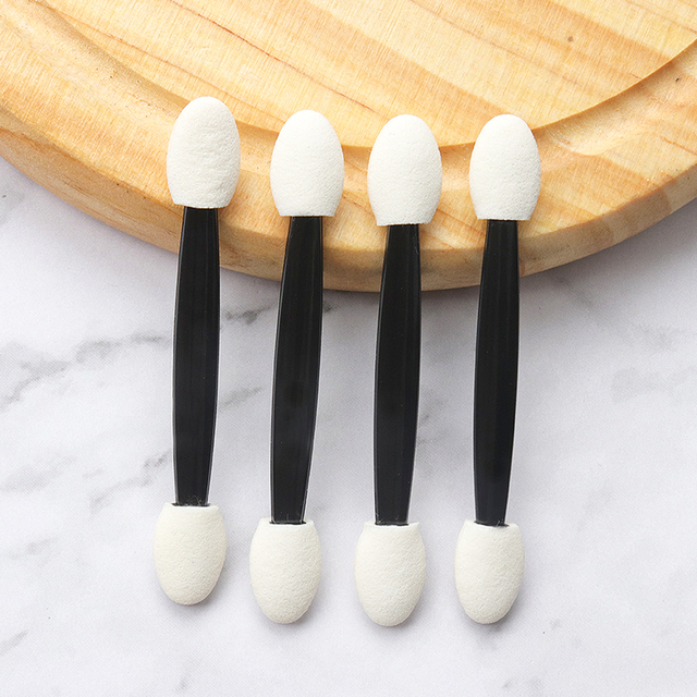 25 Pcs Professional Sponge Stick Eye Shadow Applicator Cosmetic Brushes Double-head Eyeshadow Brush For Women Makeup Tools 2