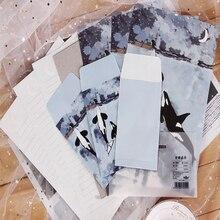 1Pack/lot 3 Envelopes + 6 Sheets Letter Paper Set Lovely Floating Forest Sea Elves For Gift School Office Supplies