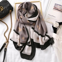 2020 Autumn winter women beach quality beautiful shawl cotton Linen silk lady fashion scarv