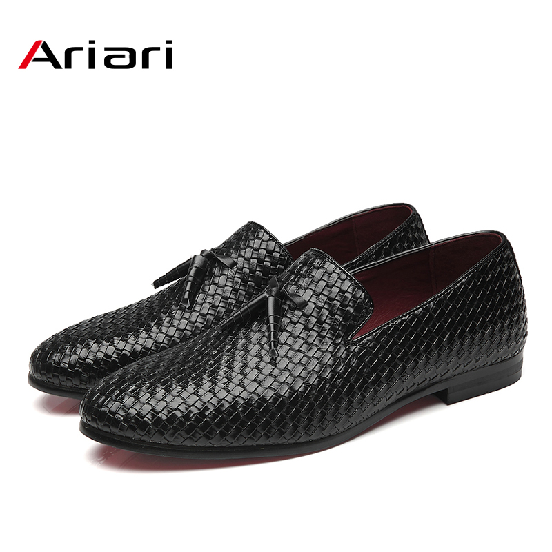 Men Shoes Breathable Men Loafers Luxury Tassel Weave Comfortable Men's Flats Men Oxford Casual Shoes Big Size 48