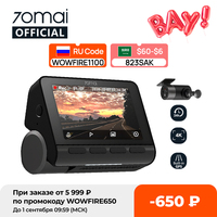 70mai Dash Cam 4K A800S Gebaut-in GPS ADAS 70mai A800 Kamera Auto DVR 24H Parkplatz Monitior vorne und Hinten Cam 140FOV