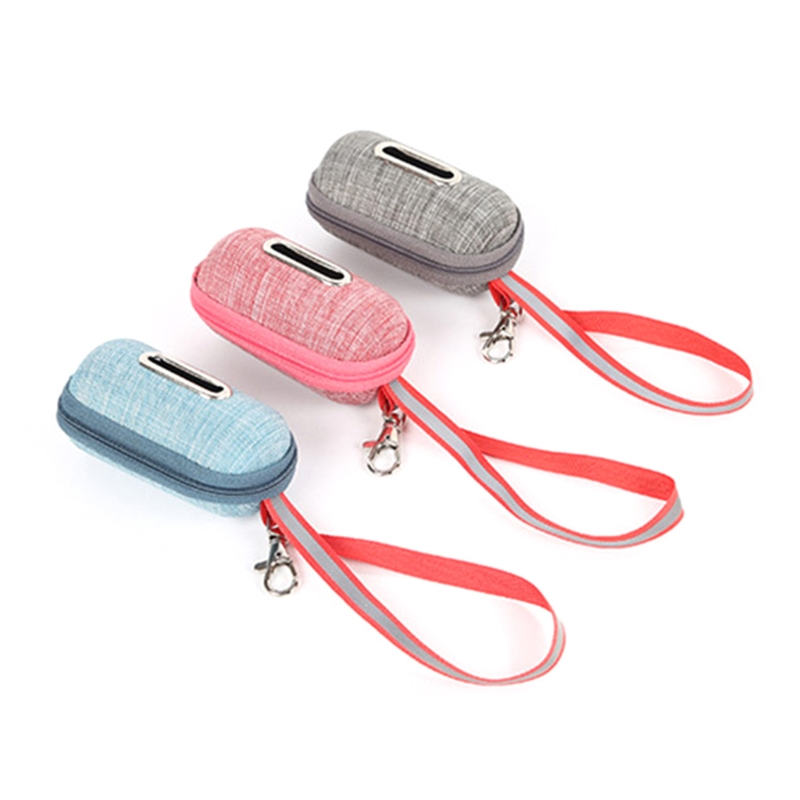 Portable Pet Dog Poop Bag Dispenser Pick-Up Bags Holder With Rope Cleaning Waste Garbage Box