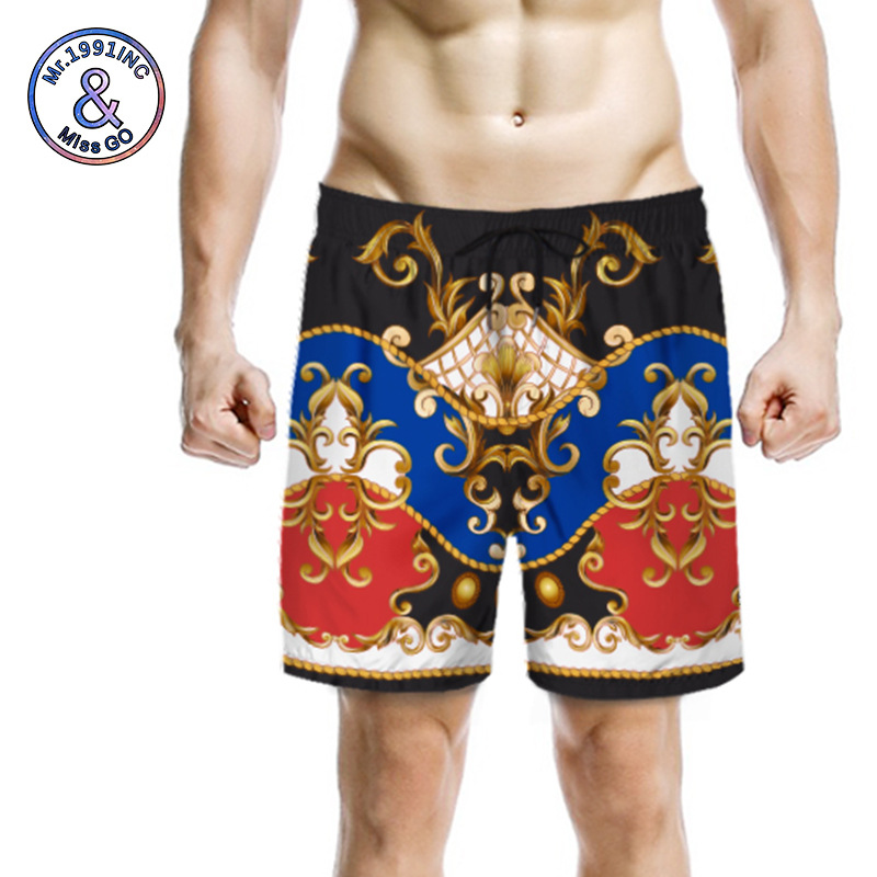 3D Digital Printing Processing MEN'S Beach Pants Europe And America Summer Casual Quick-Dry Shorts Customizable