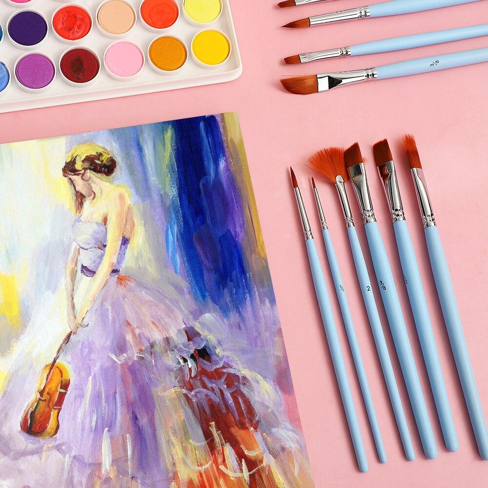 Promote▀JIANWU Brush-Set Watercolor-Paint-Set Art-Supplies Acrylic Multifunctional 12pcs/Box