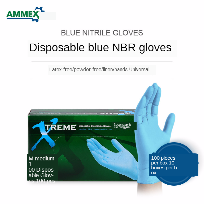 Disposable Gloves Nitrile Gloves Industrial Experiment Cleaning Durable Rubber Labor Gloves