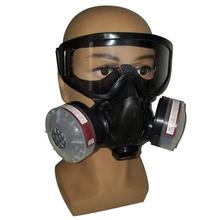 Filtr maska gazowa pół twarzy filtr oddechowy Respirator z Anti-okulary przeciwmgielne chemiczna maska przeciwpyłowa do malowania spawanie natryskowe tanie tanio VAHIGCY Other Anti-fog Spray paint pesticide protective mask Z tworzywa sztucznego Domu DIY