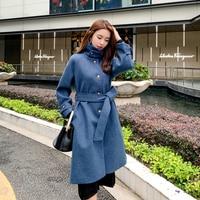 Женское зимнее длинное черное пальто Dames Jassen, элегантное однотонное приталенное пальто