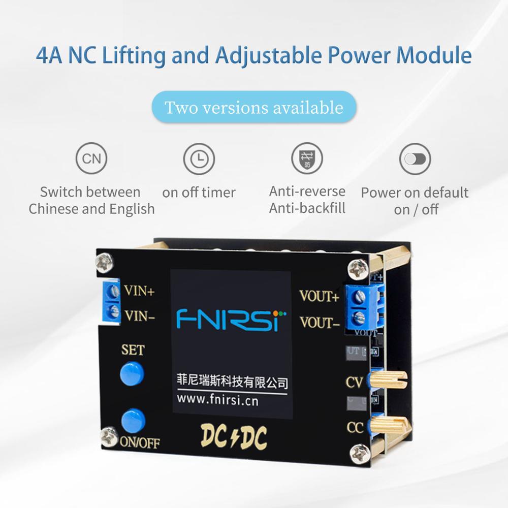 DC DC Automatic Boost/Buck Converter CC CV Power Module 0.5-30V 3A 35W/4A 50W Adjustable Regulated Power Supply Voltmeter