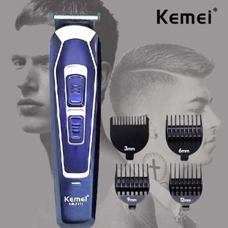 Professional Hair Clipper Low Noise Shaver Men Electric Hair Cutter Machine Stainless Steel Blade Rechargeable Beard Trimmer 45D