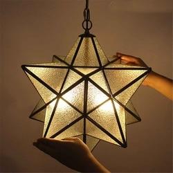 Morave étoile verre suspension moderne lampe luminaire décor