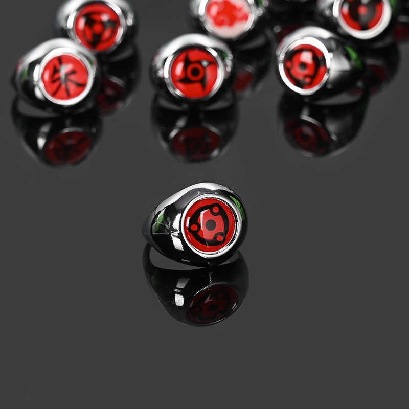 애니메이션 나루토 Uchiha Itachi 사스케 Sharingan 반지 닌자 아카츠키 회원 코스프레 반지 남성 쥬얼리 액세서리