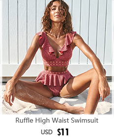 H07e4e31d473240c7897455695fcc7eedR 2019 Sexy High Waist Bikini Women Swimwear Push Up Swimsuit Ruffle Bathing Suit Polka Dot Biquinis Summer Beach Wear Female