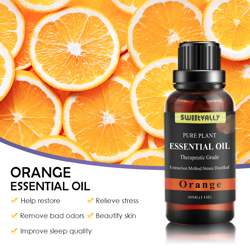 Wholesale Pure Natural Orange Aromatherapy Essential Oils Purification Air Haze Breathing Smooth Bath Spa Insect Repellent Essen