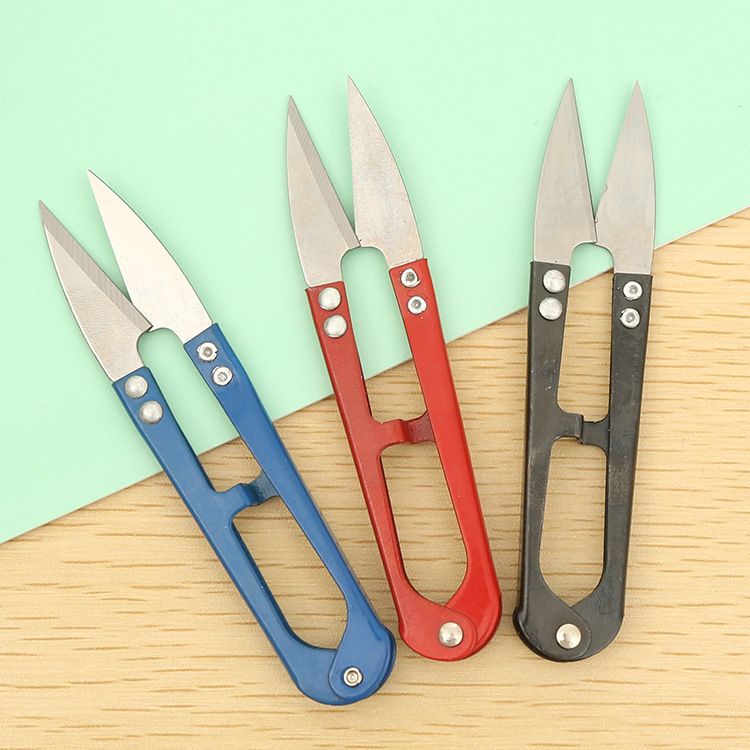Special Offer Supply Cross Stitch U-shaped Small Scissors Color Stainless Steel Xian Tou Jian Fishing Line Yarn Shear