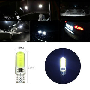 Image 4 - 10pcs ไฟ LED รถ COB W5W T10 สีขาว Wedge Light รถยนต์ขนาดเล็กหลอดไฟ Light Emitting Diode Trunk โคมไฟซิลิโคน สีเหลือง