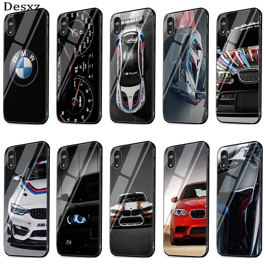 Mobile Phone <font><b>Case</b></font> Glass TPU Cover <font><b>for</b></font> <font><b>iphone</b></font> 5 5s SE 6 6s 7 <font><b>8</b></font> Plus X XR XS Max <font><b>BMW</b></font> Car Shell image