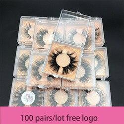 Pedido al por mayor de MIKIWI libre DHL 100 par/lote caja cuadrada personalizada 5D pestañas de visón 100 pestañas populares naturales libres de dureza