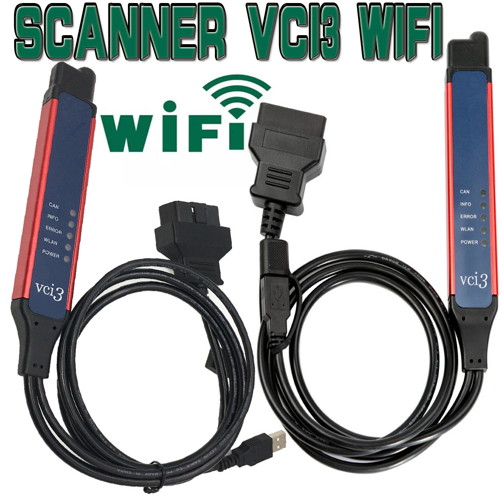 2020 Newest VCI3 V2 40 Quality A  Large Cable SDP3 VCI3 Scanner WIFI 2 40 for Wireless VCI-3 Truck Diagnosis 2 31 Instead VCI2