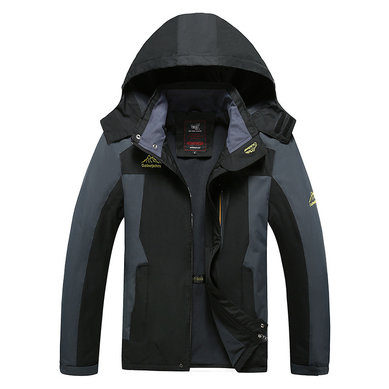 Foreign Trade Hot Selling Large Size Autumn New Style Men's Thin Single Layer Raincoat Jacket Breathable Warm Outdoor Sports Cas